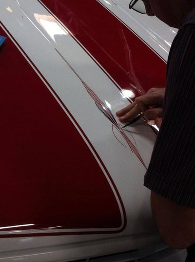 Hand Painted Pinstriping Hand Painted Pinstriping Race Stripes Car Wraps San Marcos Ca Cars Stripes By Jack Herrera